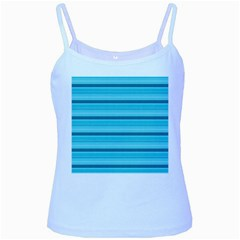 The Background Strips Baby Blue Spaghetti Tank