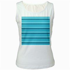 The Background Strips Women s White Tank Top