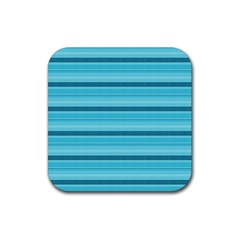 The Background Strips Rubber Square Coaster (4 Pack)