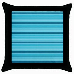 The Background Strips Throw Pillow Case (Black)