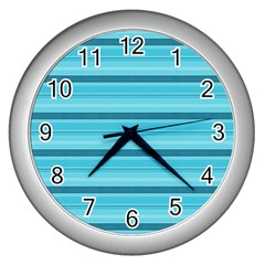 The Background Strips Wall Clocks (Silver)