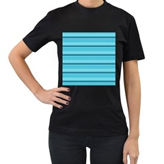 The Background Strips Women s T Shirt (black) (two Sided)