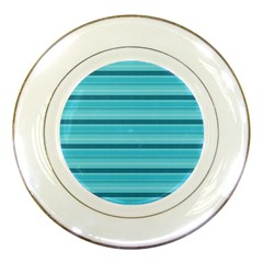The Background Strips Porcelain Plates