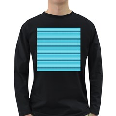 The Background Strips Long Sleeve Dark T Shirts