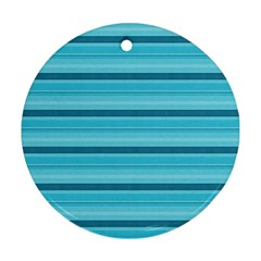 The Background Strips Round Ornament (two Sides)