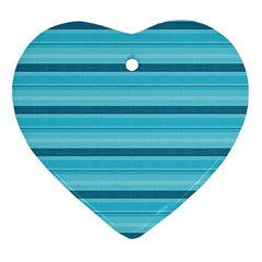 The Background Strips Heart Ornament (Two Sides)