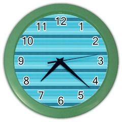 The Background Strips Color Wall Clocks