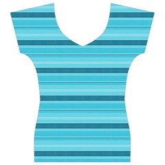 The Background Strips Women s V-Neck Cap Sleeve Top