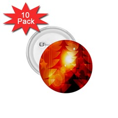 Tree Trees Silhouettes Silhouette 1.75  Buttons (10 pack)