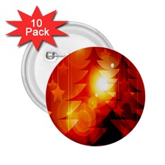 Tree Trees Silhouettes Silhouette 2.25  Buttons (10 pack)