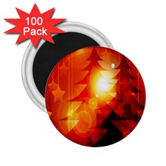 Tree Trees Silhouettes Silhouette 2 25  Magnets (100 Pack)