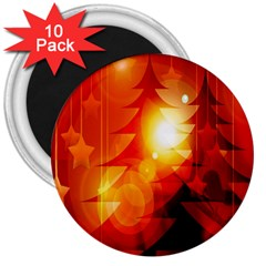 Tree Trees Silhouettes Silhouette 3  Magnets (10 Pack)