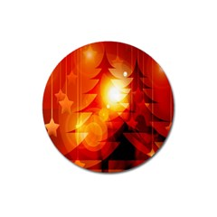 Tree Trees Silhouettes Silhouette Magnet 3  (Round)