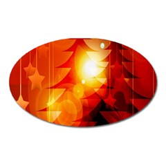Tree Trees Silhouettes Silhouette Oval Magnet