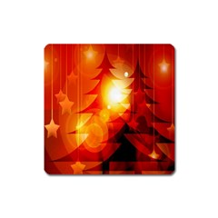 Tree Trees Silhouettes Silhouette Square Magnet