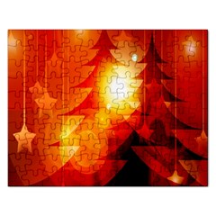Tree Trees Silhouettes Silhouette Rectangular Jigsaw Puzzl