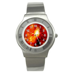 Tree Trees Silhouettes Silhouette Stainless Steel Watch