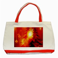 Tree Trees Silhouettes Silhouette Classic Tote Bag (Red)