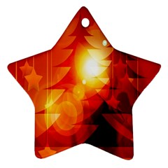 Tree Trees Silhouettes Silhouette Star Ornament (Two Sides)