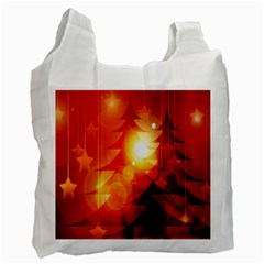 Tree Trees Silhouettes Silhouette Recycle Bag (One Side)