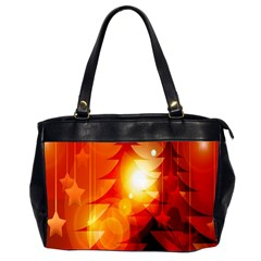 Tree Trees Silhouettes Silhouette Office Handbags (2 Sides)