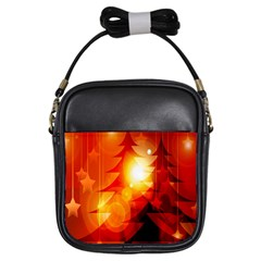 Tree Trees Silhouettes Silhouette Girls Sling Bags