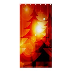 Tree Trees Silhouettes Silhouette Shower Curtain 36  x 72  (Stall)