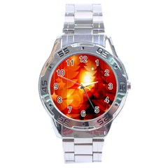 Tree Trees Silhouettes Silhouette Stainless Steel Analogue Watch
