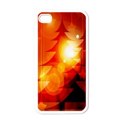 Tree Trees Silhouettes Silhouette Apple iPhone 4 Case (White)