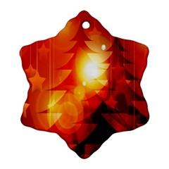 Tree Trees Silhouettes Silhouette Ornament (Snowflake)