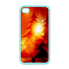 Tree Trees Silhouettes Silhouette Apple iPhone 4 Case (Color)