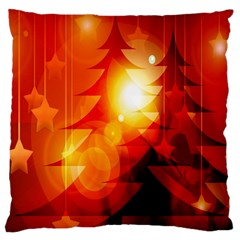 Tree Trees Silhouettes Silhouette Large Cushion Case (two Sides)