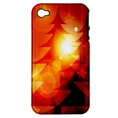 Tree Trees Silhouettes Silhouette Apple iPhone 4/4S Hardshell Case (PC+Silicone)