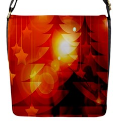 Tree Trees Silhouettes Silhouette Flap Messenger Bag (S)