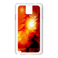 Tree Trees Silhouettes Silhouette Samsung Galaxy Note 3 N9005 Case (white)