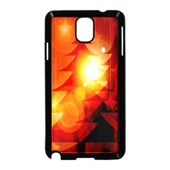 Tree Trees Silhouettes Silhouette Samsung Galaxy Note 3 Neo Hardshell Case (black)