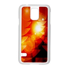 Tree Trees Silhouettes Silhouette Samsung Galaxy S5 Case (white)