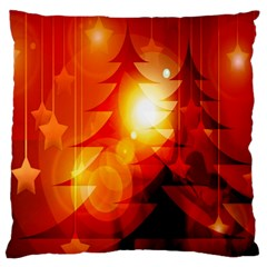 Tree Trees Silhouettes Silhouette Large Flano Cushion Case (one Side)