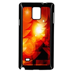 Tree Trees Silhouettes Silhouette Samsung Galaxy Note 4 Case (Black)