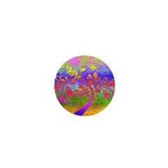 Tree Colorful Mystical Autumn 1  Mini Buttons