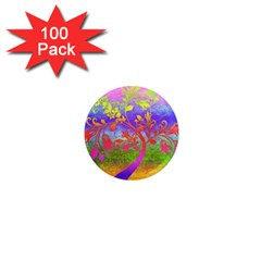 Tree Colorful Mystical Autumn 1  Mini Magnets (100 pack)