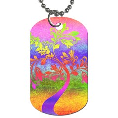 Tree Colorful Mystical Autumn Dog Tag (Two Sides)
