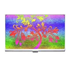 Tree Colorful Mystical Autumn Business Card Holders