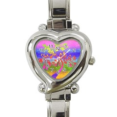 Tree Colorful Mystical Autumn Heart Italian Charm Watch