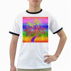 Tree Colorful Mystical Autumn Ringer T-Shirts
