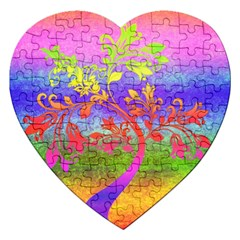 Tree Colorful Mystical Autumn Jigsaw Puzzle (Heart)
