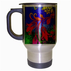 Tree Colorful Mystical Autumn Travel Mug (silver Gray)