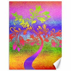 Tree Colorful Mystical Autumn Canvas 18  x 24