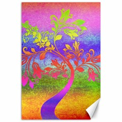 Tree Colorful Mystical Autumn Canvas 24  X 36