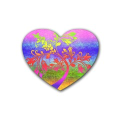 Tree Colorful Mystical Autumn Heart Coaster (4 Pack)